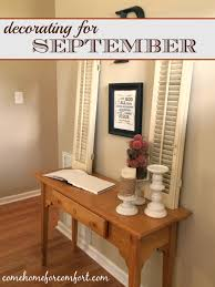 decorating for september come home for comfort