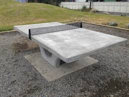 concrete ping pong table. This Concrete Ping Pong Table In A Park