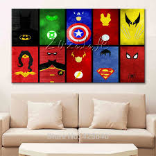 marvel prints comics pictures for walls avengers painting super heroes canvas posters hd home wall decor art wallpaper spray