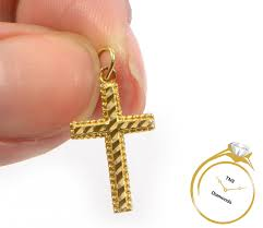 simple and pretty 14k gold cross pendant 0 64 grams