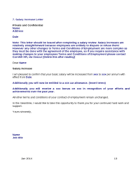 pay raise letter samples thank you for salary increase letter sample basic increment template