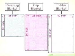 Comforter Measurements Chart Baby Blanket Dimensions Blackbin Co