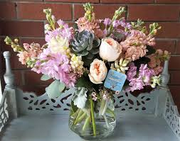 pastel colored stock with beautiful organic garden roses juliet