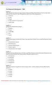Bkn juga sediakan laman simulasi cat. Soal Tes Cpns Dan Kunci Jawaban Research Papers Academia Edu