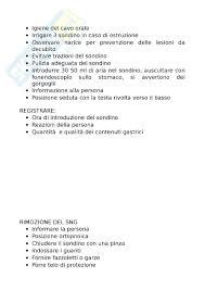Infermieristica e tecniche infermieristiche chirurgiche appunti