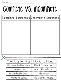 Awesome Collection of Complete Sentence Worksheets 3rd Grade On ...