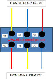 star delta motor connection we can refer the complete wiring for star delta starter diagram