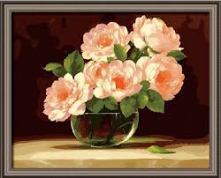 oil canvas painting flowers flower diy oil painting by
