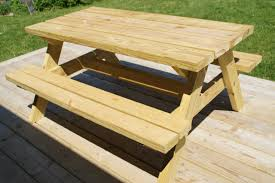 childrens wooden picnic table
