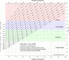Chart Of Body Mass Index Bmi For Adults