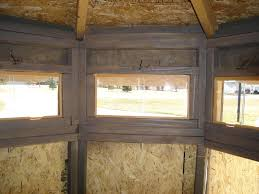Plexiglass Windows In Box BlindPlexiglass Deer Blind Windows