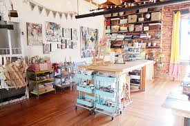I always expect to find the unexpected and this is one of my fave's  Kelly  Rae's unexpected art studio  she calls it The Soul Shine Studio.