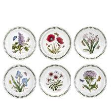 portmeirion botanic garden set of 6 salad plates assorted motifs portmeirion usa