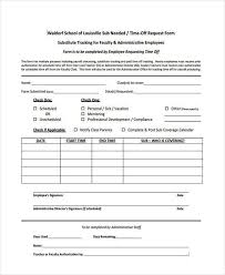 Personal Time Off Request Form Request For Time Off Form Mudface Us