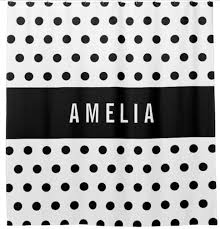 classy striped black white polka dot personalised shower curtain bathroom curtains modern nordic custom name bathing