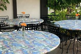 round fitted vinyl tablecloths with umbrella hole elegant round patio tablecloth