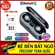 Shop bán Tai Nghe Bluetooth Không Dây AMOI F9 Tặng Kèm 1 Cáp Sạc Xịn 99k,  Dock Sạc Kiêm Pin Dự Phòng 2000 Mah - Tai Nghe Không Dây Amoi F9 -