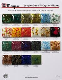 Mayco Jungle Gems Color Chart Jungle Gem Specialty Glazes In 4oz Jars More In Studio In
