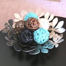 Turquoise Decorative Bowl Ikea magazine bowl decorative twig balls spray painted turquoise 60