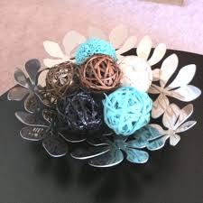 Turquoise Decorative Bowl Ikea Magazine Bowl Decorative Twig Balls Spray Painted Turquoise 49