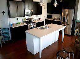 small kitchen island with sink. Kitchen Sinks, Cool Black Rectange Modern Wood Islands With Sink Stained Design: Small Island I
