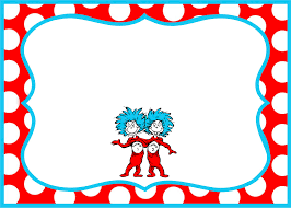 Party Borders For Invitations Gorgeous Dr Seuss Border Party Invitation Template According