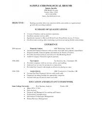 Sample Chronological Resume Resume Template Exceptional Chronological Order Example Reverse 81