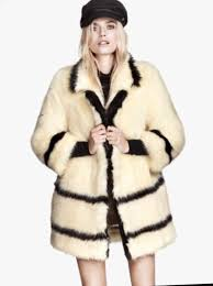 h m fur coat new with tag
