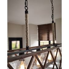 seeded glass island light weathered oak oil rubbed bronze feiss lighting rm2