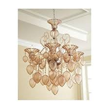 horchow lighting. Hollywood Regency Blush Pink Hand Blown Glass Chandelier 6 Light Chic Horchow Lighting G