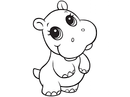 Small Picture Hippopotamus Coloring Pages Within Hippo At creativemoveme