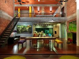 colorful contemporary modern industrial. Stunning Modern Contemporary Industrial Cheerful Open Dining Room Interior Design And Decoration Fully Cross Ventilated To Other Side Stylish Colorful P
