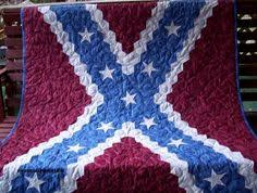 Confederate flag quilt | Quilts | Pinterest | Flag quilt, Flags ... & rebel flag quilt I made with hexagons pieces Adamdwight.com