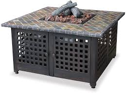 uniflame fire pit. Amazon.com : Endless Summer, GAD860SP, LP Gas Outdoor Firebowl With Slate/Marble Mantel Fireplaces Garden \u0026 Uniflame Fire Pit E