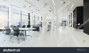 modern office space design. Interior Office Space. 3d Modern Space Render Design S