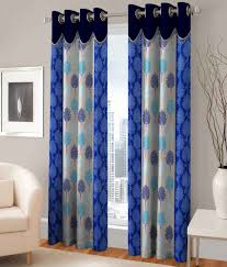 Curtains Fashion Fab Set Of 2 Door Eyelet Curtains Printed Multi Color