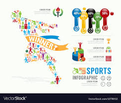 Sports Infographic Template Sports Template Design Infographic Concept Vector Image
