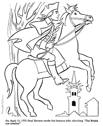 Small Picture Paul Revere History Coloring Page For Kid 020 Coloring Home
