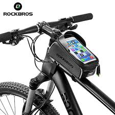 ROCKBROS <b>Bicycle</b> Front Top Tube <b>Phone Bag</b> Touch Screen <b>Bike</b> ...