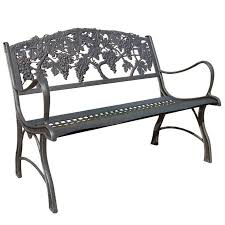 this attractive gs cast iron loveseat garden bench by painted sky is a functional work of art
