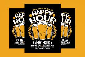 Happy Hour Flyer Happy Hour Beer Flyer