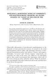 Pdf Resilience Hardiness Sense Of Coherence And