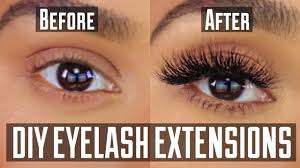 diy permanent at home eyelash extension