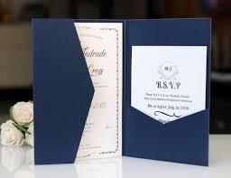 Wedding Invitation Folding Blank Wedding Invitation Envelop Pocket Tri Folding Invite Cover