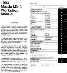 1993 mazda mx 3 repair shop manual original 1990 mazda miata radio wiring diagram at 1993 Mazda Miata Radio Wiring Diagram