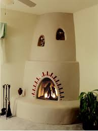 santa fe kiva fireplace santa fe shown with optional nichos