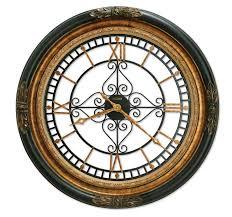 entranching iron wall clock on 37 large howard miller quartz wrought dial 625443