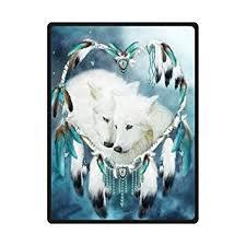 Dream Catcher Blankets Amazon Wolf Dreamcatcher Dream Catcher Soft Fleece Travel 4