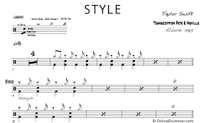 Here is how drum sheet music indicates a regular snare drum stroke (played with a stick hitting the middle of the drum). Style Taylor Swift Drum Sheet Music Onlinedrummer Com