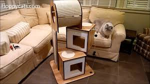 v modern furniture. hagen vesper cat furniture vtower tower arrives for review modern tree floppycats youtube v e